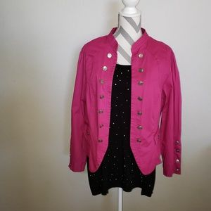 Torrid pink open front jacket in size 1